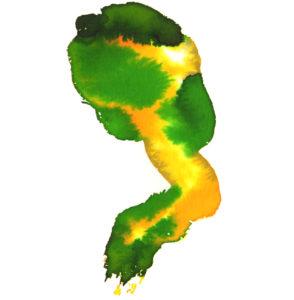 Origen. 21x29 cms/42x59 cms. Acuarela/digital. Ilustración en acuarela y tratada digitalmente perteneciente a la colección Gaia. Serie de ilustraciones representando distintos países del mundo