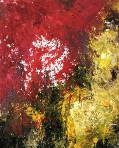 El Rapto IV. Cuadro pintado al óleo sobre lienzo. Forma parte de la colección El Rapto. Basado en un fragmento de La Biblia donde Dios resucita a los muertos y a los vivos dignos de El Señor para llevárselos con Él al cielo. Éste cuadro representa lo caótico del mundo motivando así la destrucción del mundo.