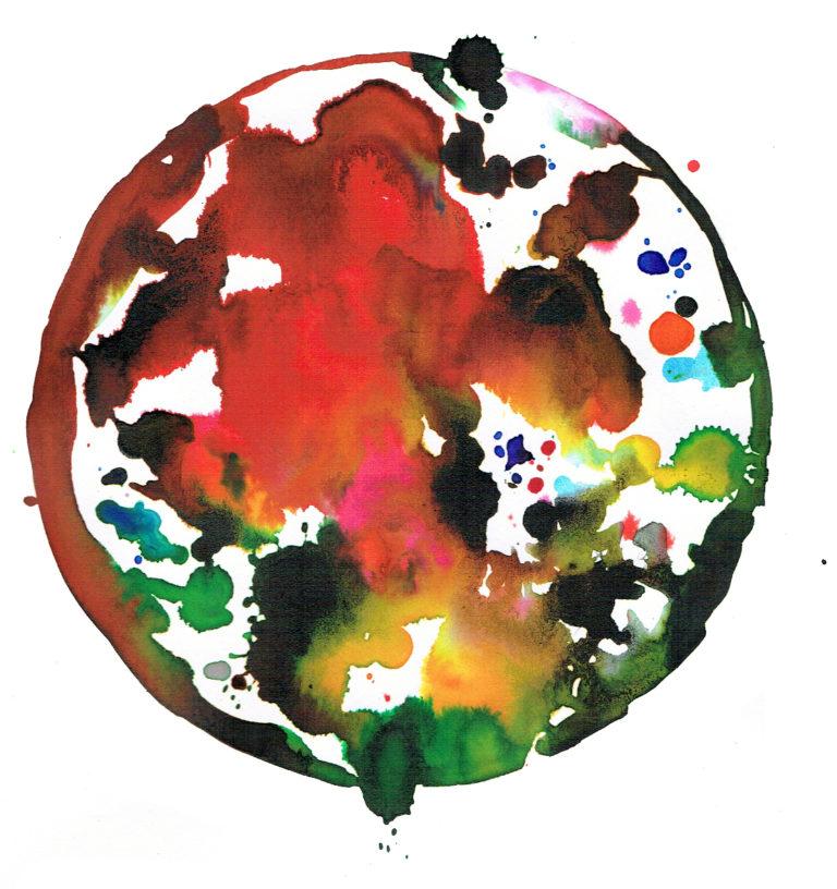 Gaia. Ilustración en acuarela y tratada digitalmente perteneciente a la colección Gaia, serie de ilustraciones representando distintos países del mundo